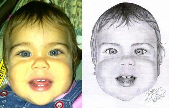 #retrato #grafito #baby #girl