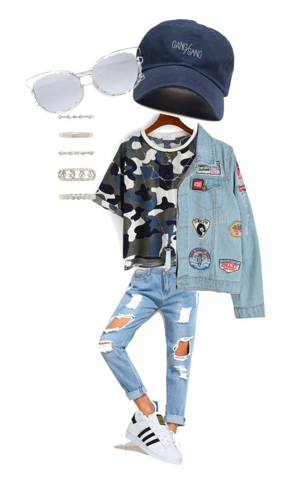 """Loose"" by luciaguerrero9 on Polyvore featuring Chicnova Fashion, adidas, LULUS and Forever 21"