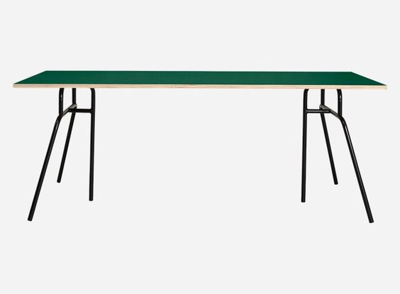 Mf0699 - Table top, Apart, hunter green, 120x58x1.5 cm