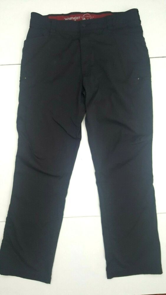 Wrangler Men S Outdoor Comfort Flex Cargo Pant Size 38 X 32 Black Stretch Waist Ebay Black Stretch Cargo Pant Fashion