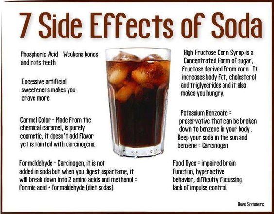 7 Side Effects of Soda, for dad