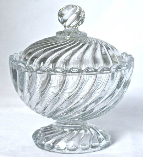 Vintage french baccarat crystal glass sugar candy bowl