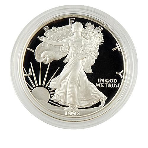 Coin Collector 1992 Proof Silver Eagle Dollar In 2020 Silver Eagle Coins Silver Bullion Silver Bullion Coins