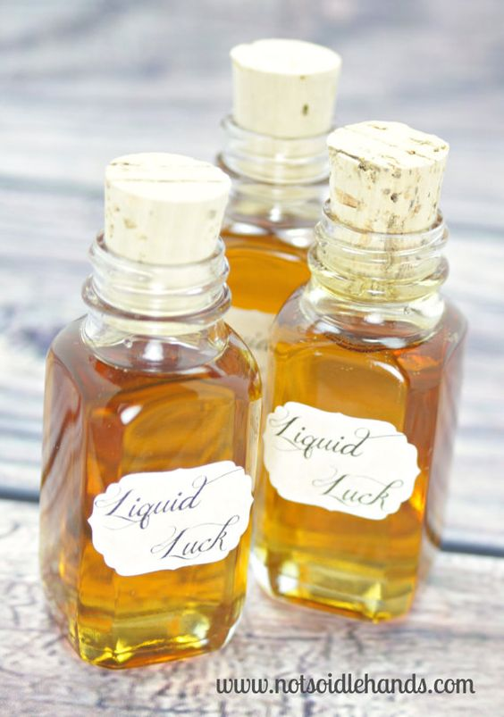 Harry Potter Party Liquid Luck Set of 6 + Corks Mini Glass Bottles for Favors w/Free PDF Printable Labels