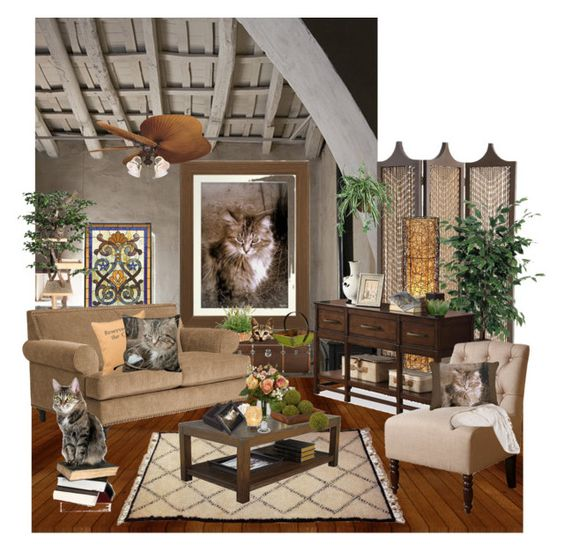"""Cat Lover Home Decor Ideas"" by sgolis ❤ liked on Polyvore featuring interior, interiors, interior design, home, home decor, interior decorating, Meyda, Arteriors, Antique Revival and Ethan Allen"