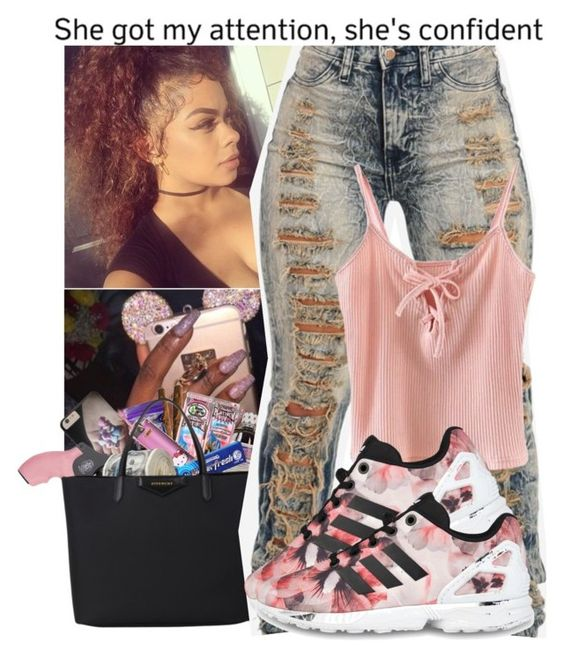 """"""" Victim Of My Own Independence """" by babygirlnia14 ❤ liked on Polyvore featuring Chicnova Fashion and adidas Originals"""