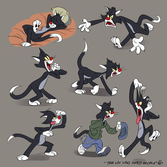 Tex Avery Studies: The Cat Who Hated People by Totalmeep on DeviantArt