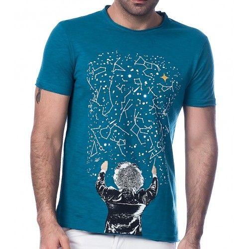 Scorp Graphics Milky Way Baskılı Erkek Tişört