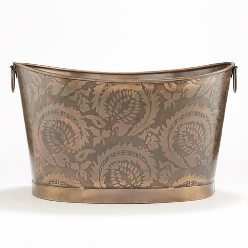 One of my favorite discoveries at WorldMarket.com: Sofia Embossed Copper Tub