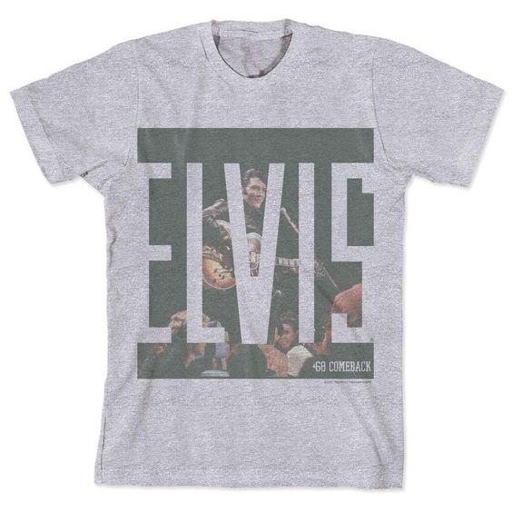 Camiseta Elvis - ´68 Comeback Gray