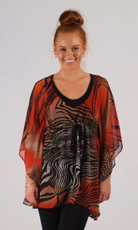 Spicy Sugar Tiger Kaftan.  Sheer natured kaftan with a drawstring waist that can be worn over swimwear for extra coverage. Alternatively wear this knockout print kaftan as a long flowing top or short dress over a cami , slip , pants or skirt.