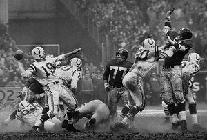 The Golden Arm, Johnny Unitas, 1958 by Robert Riger