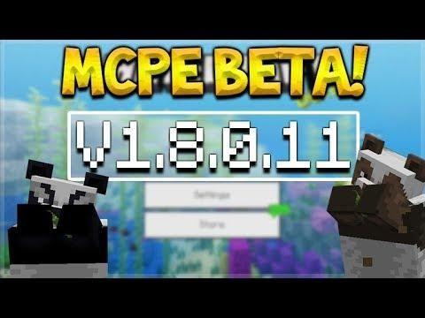 Mcpe 1 8 0 11 Beta Minecraft Pocket Edition New Panda Skin Changes Mcpe Xbox Pc Switch Minecraft Pocket Edition Pocket Edition Xbox Pc