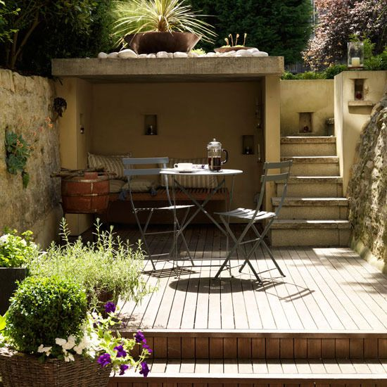 I love the idea of a little nook in my garden to laze away summer afternoons watching the birds and butterflies.