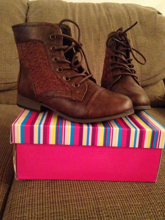 brown low boots for girls