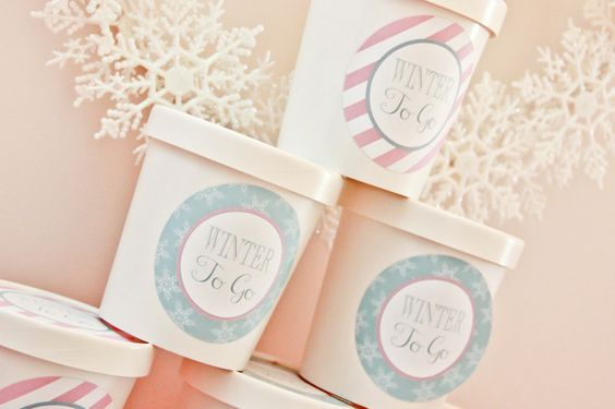 Take home treats from a Winter Wonderland Party #winter #partytreats
