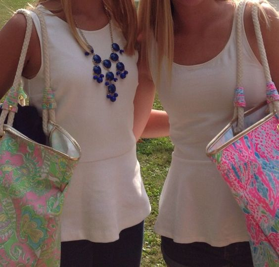 Peplums and Lilly Pulitzer!