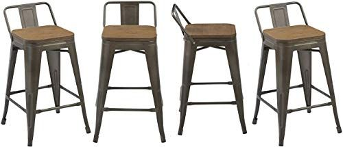 Best Seller Btexpert Low Back Chair Industrial 24 Rustic Metal