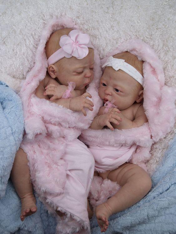 Precious~Dreams ♥ FULL BODY BABY DOLL ♥ Anatomically correct Reborn girl TWINS | eBay