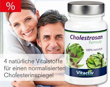 Cholestrosan - Vier natürliche Stoffe für einen normalisierten Cholesterinspiegel