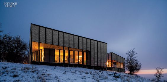 The lodge comprises three main buildings. Photography by Fernando Alda.