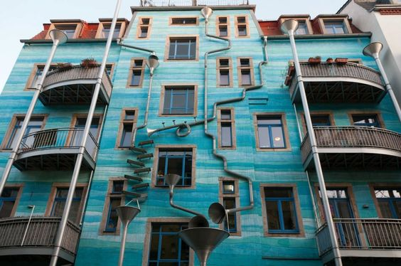 Mad drainpipes in Germany