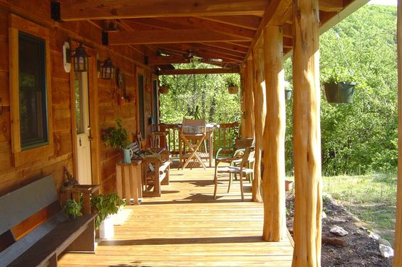 Posts nice and beams on pinterest for Rustic porch columns