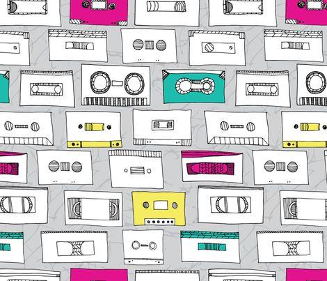 Be Kind, Please Rewind fabric by tiffanyheiger on Spoonflower - custom fabric