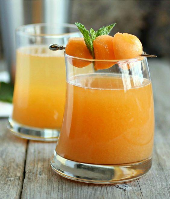 Cantaloupe Melon Martini: