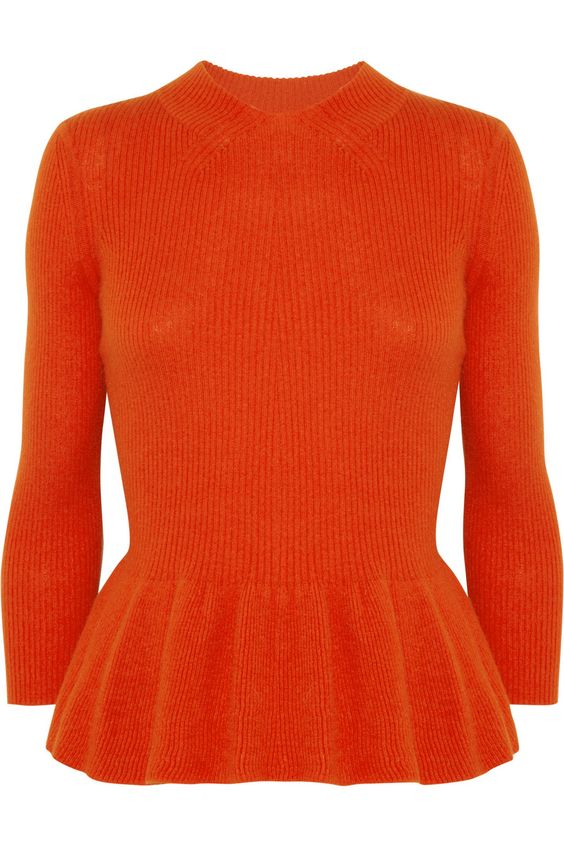 Tory Burch | Wool-blend peplum sweater | NET-A-PORTER.COM