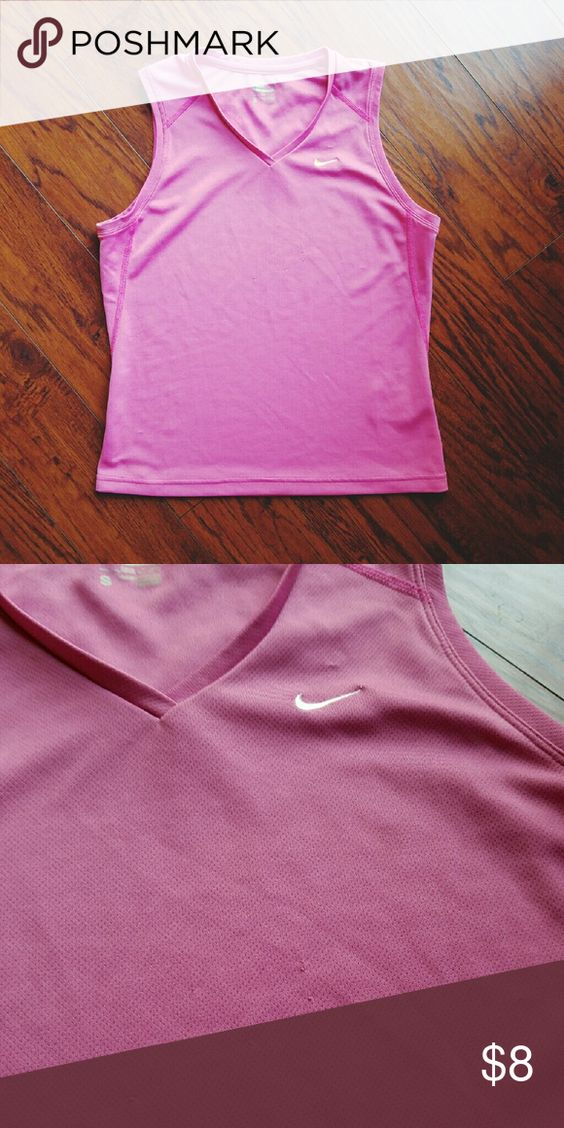 Nike performance tank A light pink athletic Nike tank. It has some wear shown on the second picture but it is barely noticeable when worn. The price reflects the condition! Nike Tops Muscle Tees
