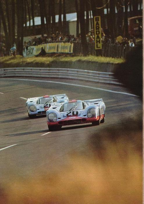 Los 917 Gulf de John Wyer con Siffert al frente. Principio de los '70. No ganó ninguno.: