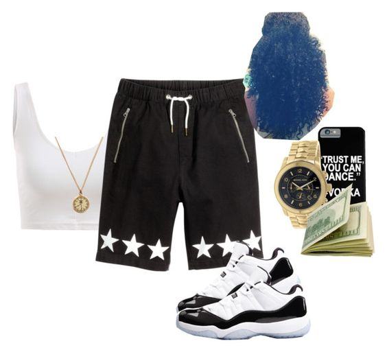 """""""Black N' White"""" by mamiyanna ❤ liked on Polyvore featuring Michael Kors, Concord and Chanel"""