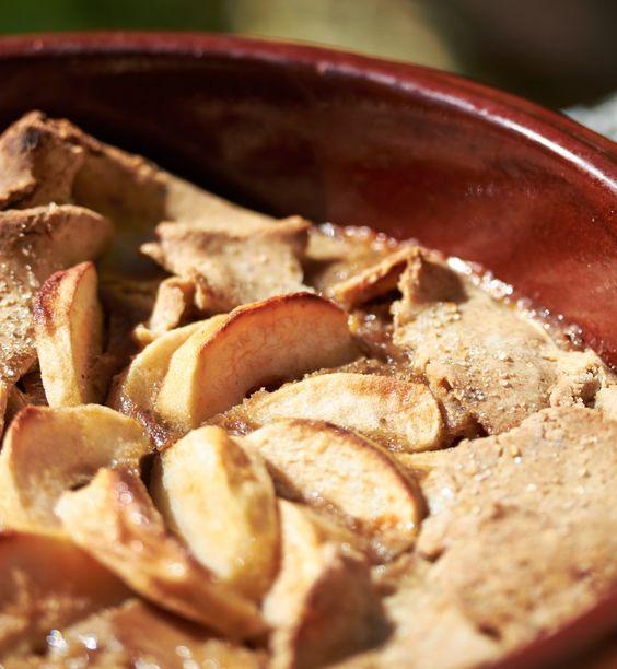 Tarte pommes noisettes sans gluten et sans lactose