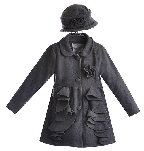 Widgeon Fleece Ruffle Coat for Girls with Hat $62.00