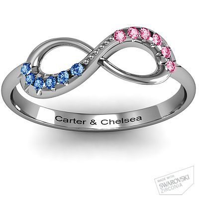 Infinity Accent Ring - For my babies.