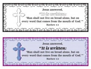 """""""It is Written"""" Lent Bookmarks"""
