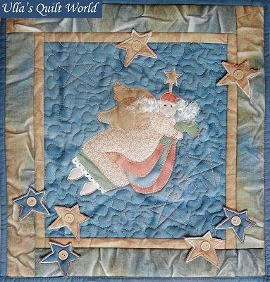 Di Ulla Quilt mondo: Angelo arazzo quilt - sole tintura