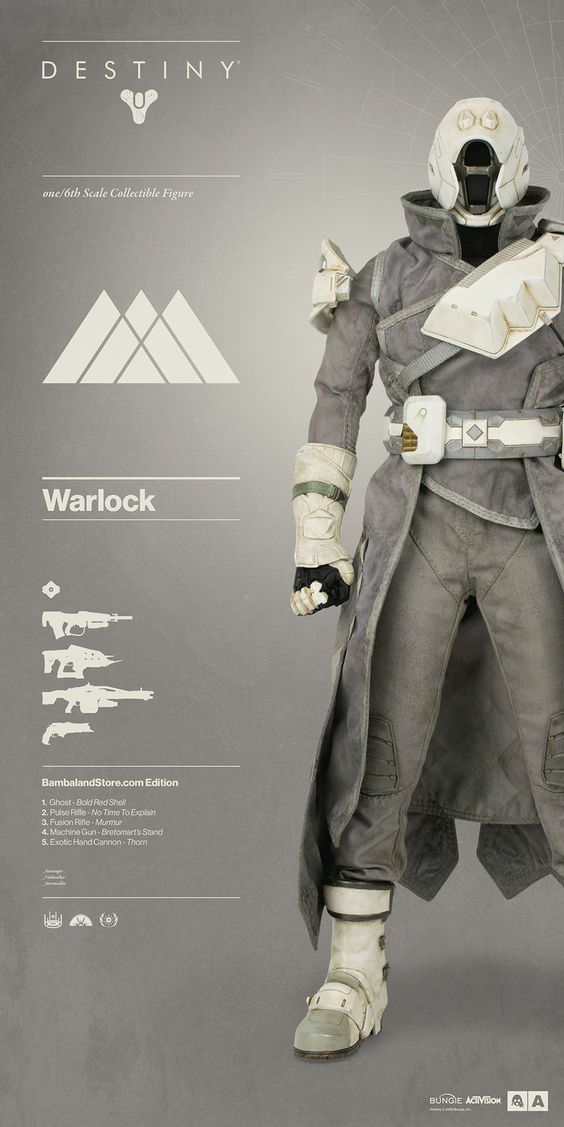 Destiny | Warlock Bambaland Store Exclusive Edition! Everything you need to know about Destiny | Warlock pre-order on July 7th: http://www.worldofthreea.com/threea-production-blog/destinywarlock The Warlock comes in three exclusive editions – each edition comes complete with Ghost and are outfitted in shaders, armor, vestments, and an array of weaponry curated by ThreeA and the team at Bungie. #threeA #WorldOf3A #WO3A #Bungie #Destiny #DestinyTheGame #DestinyWarlock