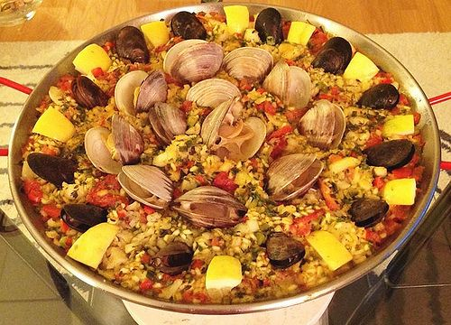 My first Paella de Marisco (Seafood Paella) -traditional dish from Spain-