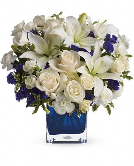 Teleflora's Sapphire Skies Bouquet Flowers, Teleflora's Sapphire Skies Flower Bouquet - Teleflora.com: