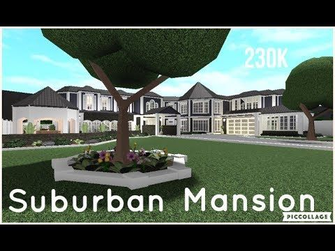 Roblox Bloxburg Mansions 130k Bloxburg Suburban Mansion Speed Build 230k Youtube In 2020 Mansions Two Story House Design Family House Plans