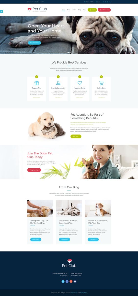 Pet Club is an ideal WordPress theme if you seek to build a website for pet store, veterinary clinic, dog training classes, animal shelters and pet hotels, dog / cat trainers, or pet caretakers, as well as adoption centers or animal community, including a…