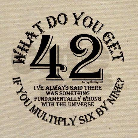 H2G2: 42 Tote Bag on CafePress.com