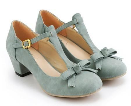 Classy retro style women shoes elegant strappy medium chunky heel ...
