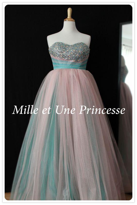 Evening dress, wedding dress, robe de princesse, robe de soirée, robe de mariée.