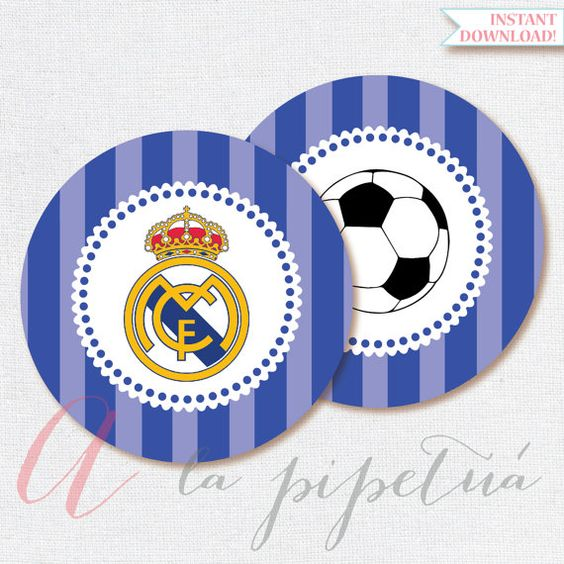 Real madrid printables printable soccer centerpiece real for Decoration chambre real madrid