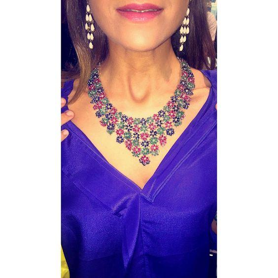 """""""Bella come le stelle di notte.""""💫#emerald #sapphire #ruby #inlove 💘💎"""