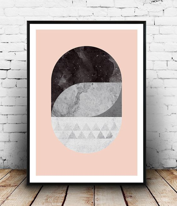 Marble wall print, Scandinavian design, Abstract print, Geometric wall art, Modern art print, pink wall decor, Home decor, watercolor print  Dimensions available: 5 x 7 8 x 10 11 x 14 A4 210 x 297 mm (8.3 x 11.7) A3 297 x 420 mm (11.7 x 16.5) - Please choose from drop down menu above!  If you are interested into any size that is not available, please contact us.    INFO:  Prints are printed on 240gsm Archival Matt photo paper  Shipped in a sturdy mailing tube with sealed caps  Frame is not…
