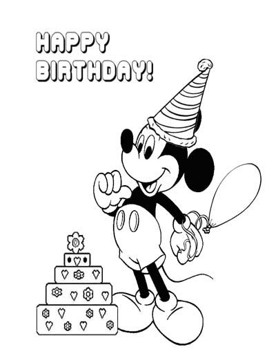 100 Mickey Mouse Coloring Pages Free Mickey Mouse Coloring Pages Happy Birthday Coloring Pages Birthday Coloring Pages